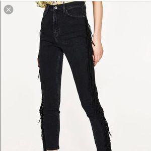 Zara z1975 denim premium crafted high rise skinny